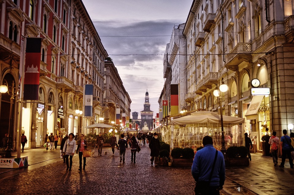 centrum v Miláně