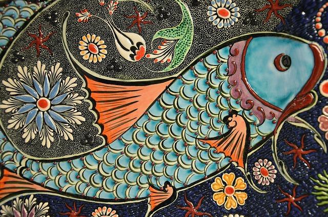 ryba a květiny