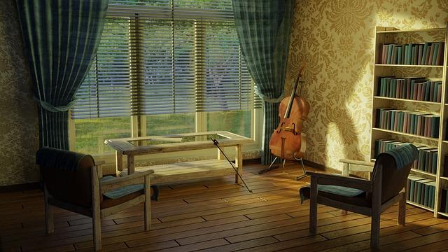 jednoduše zařízený interiér